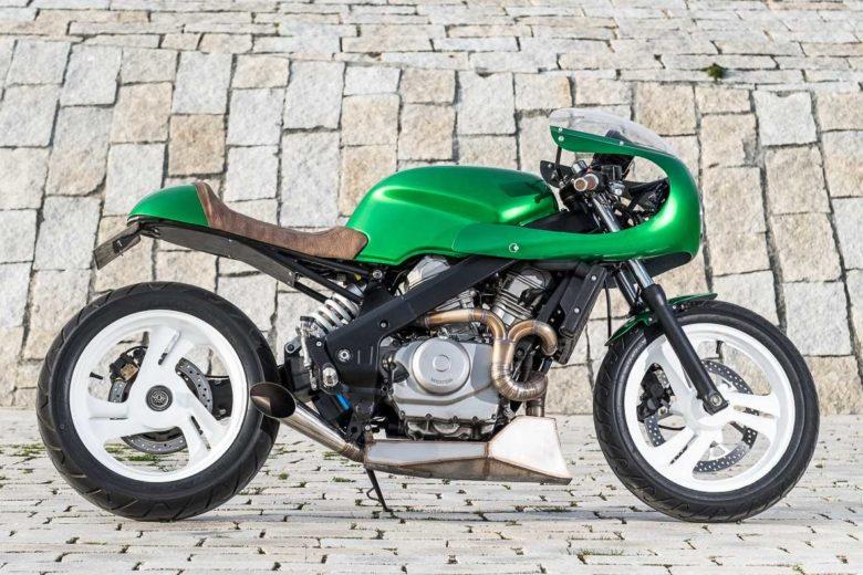 """NTV 650 Café racer """"THE GREEN GOBLIN"""" - WIMOTO"""