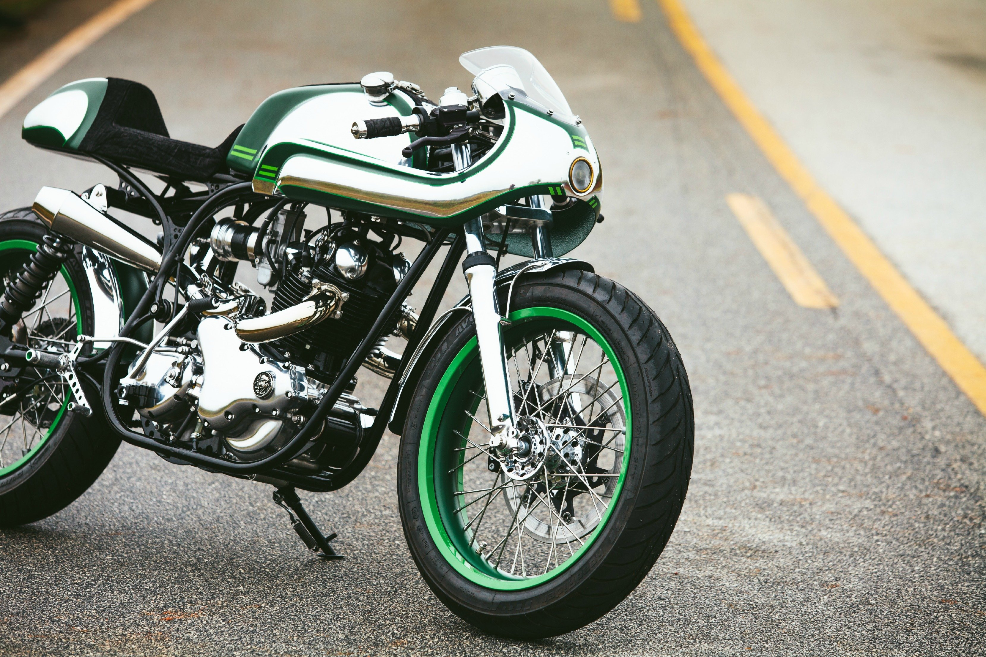 "Norton Commando 750 ""Misty Green"" by Fuller Moto"