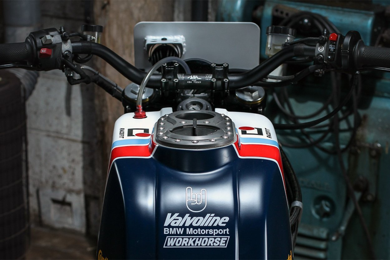 "BMW R NineT ""Valvoline"" by Workhorse Speedshop"