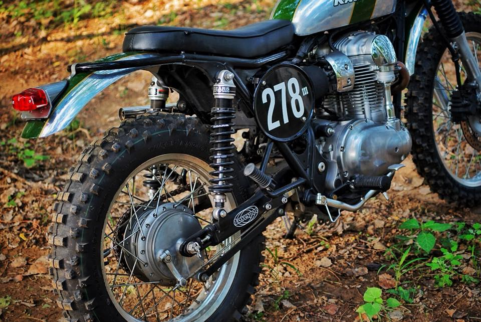Kawasaki W800 Scrambler by Mandrill Garage