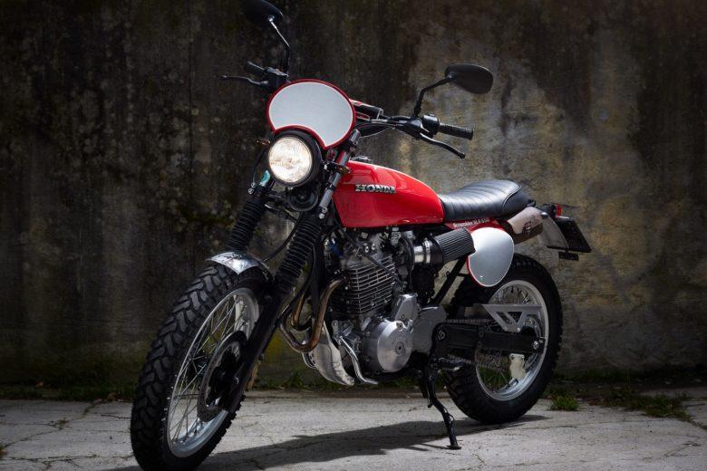 """HONDA SLR650 """"Little Red Rooster"""" by Reier Motors"""