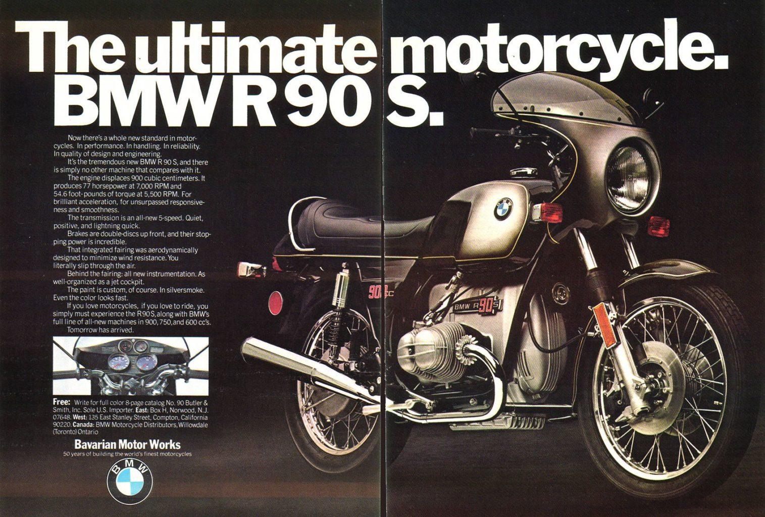 BMW R90S history