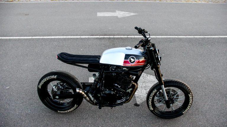 Honda NX400 Super Cobra by Lucky Custom