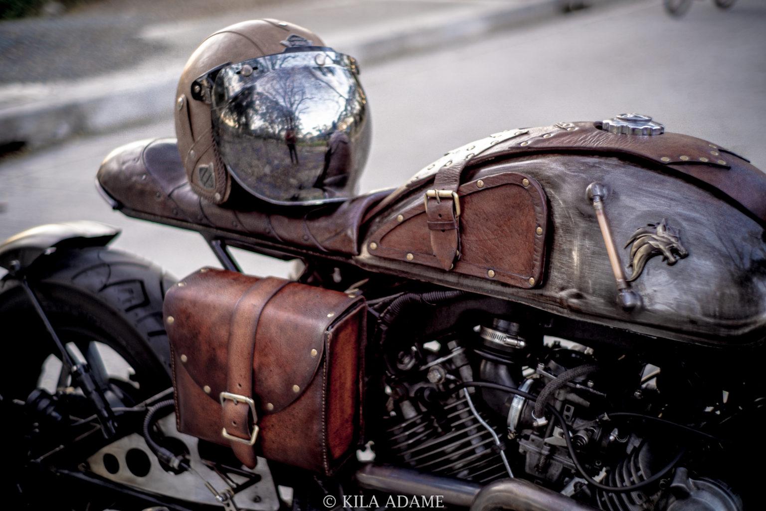 "Yamaha XV750 Virago ""Drogon"" by Kila Adame"